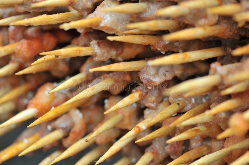 Gebratenes Lamm shashlik/Lammaufsteckspindel/shish kebab/auf Festivalfeinschmeckerfestival stockbilder