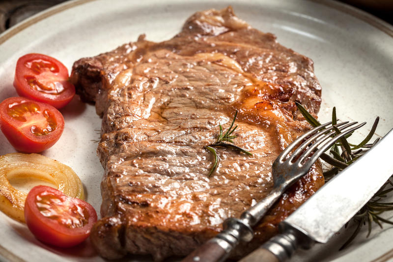 Gebratenes Rindfleischsteak stockbild