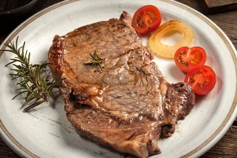 Gebratenes Rindfleischsteak lizenzfreies stockbild