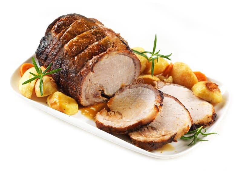 Gebratenes Schweinefleisch lizenzfreies stockfoto