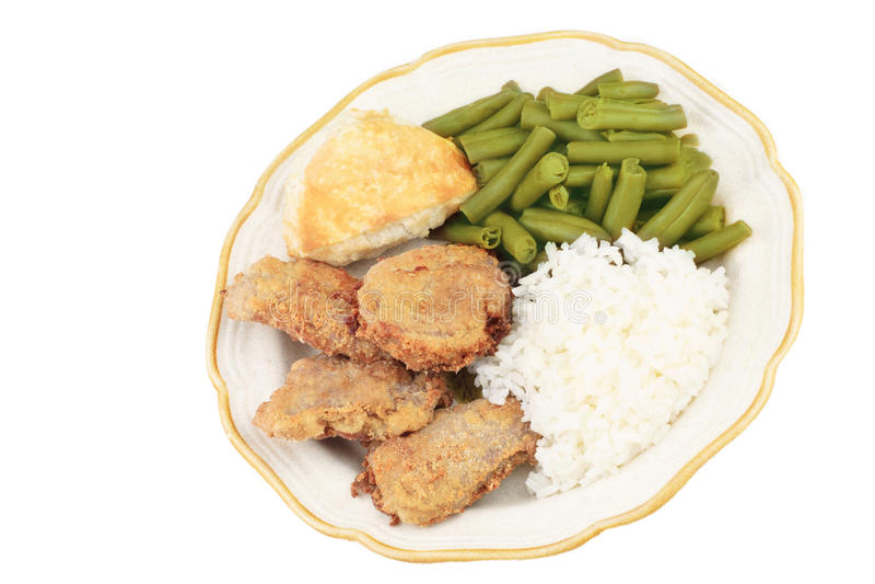 Gebratenes Schweinefleisch-Lendenstück-Abendessen lizenzfreies stockbild