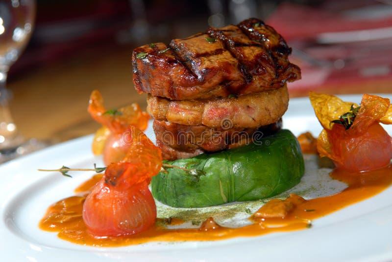 Gebratenes Steak vom Rindfleisch lizenzfreies stockbild