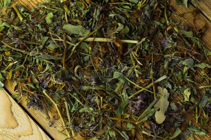 Gebrauter Tee auf einer dienenden Tabelle mit dem Brauen lizenzfreie stockfotografie