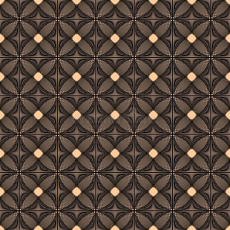 Gebreid beige patroon van lijnen vector illustratie