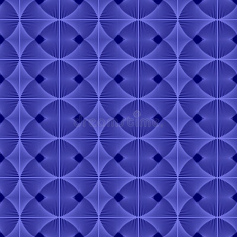 Gebreid die lilac ornament van vierkanten wordt gemaakt vector illustratie