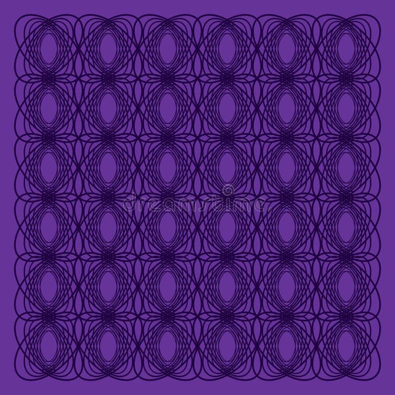 Gebreid donker lilac patroon vector illustratie