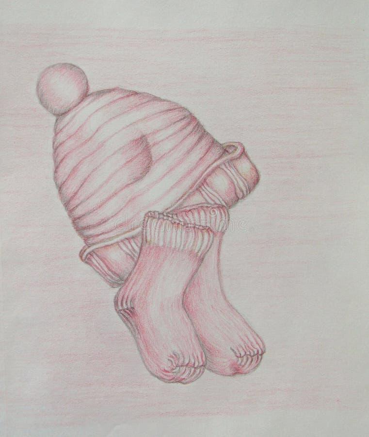 Gebreid GLB en sokken stock illustratie