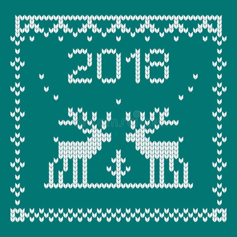 Gebreid hertenblauw stock illustratie