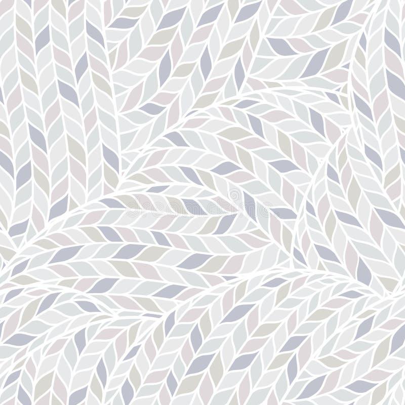 Gebreid Krabbel Naadloos Kleurrijk Sierpatroon stock illustratie