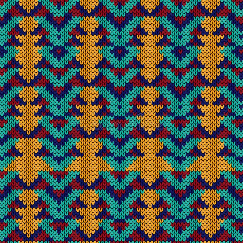 Gebreid naadloos abstract patroon royalty-vrije illustratie