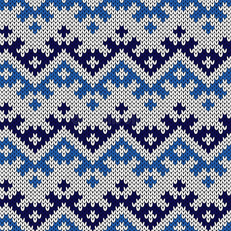 Gebreid naadloos abstract patroon vector illustratie