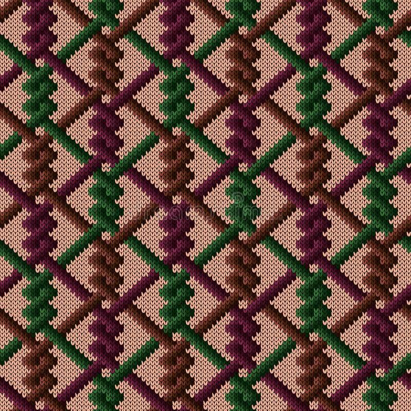 Gebreid naadloos decoratief patroon vector illustratie