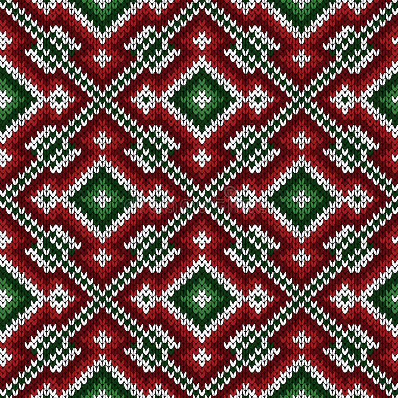 Gebreid naadloos diagonaal decoratief patroon stock illustratie