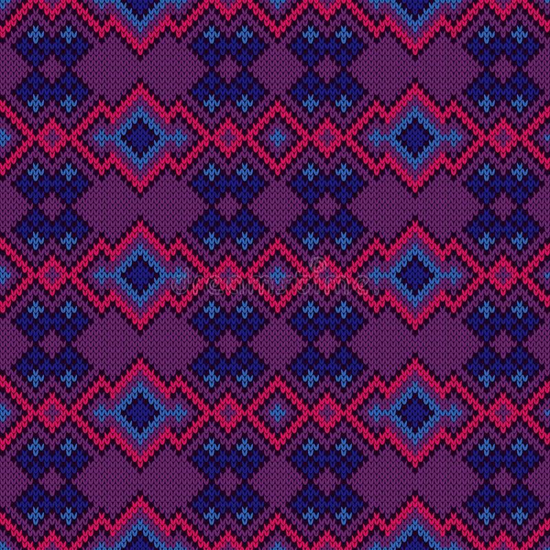 Gebreid naadloos kleurrijk patroon vector illustratie