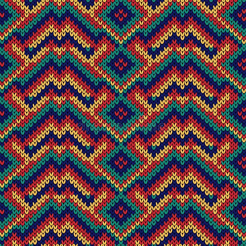 Gebreid naadloos multicolored patroon royalty-vrije illustratie