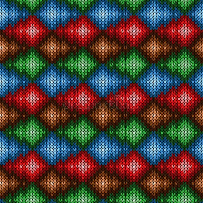 Gebreid naadloos multicolored patroon vector illustratie