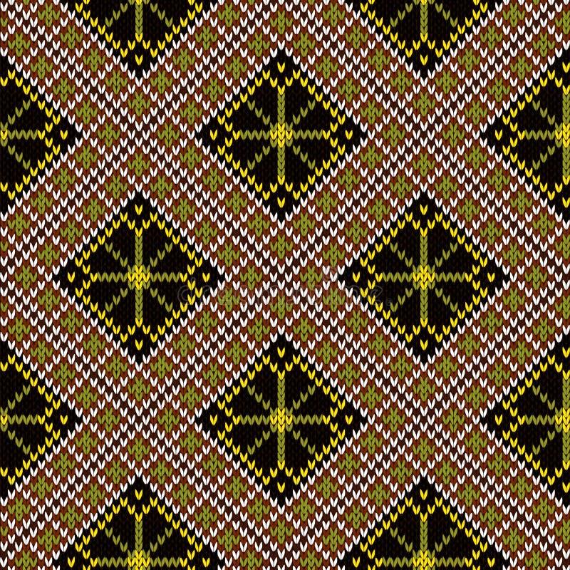 Gebreid naadloos patroon royalty-vrije illustratie