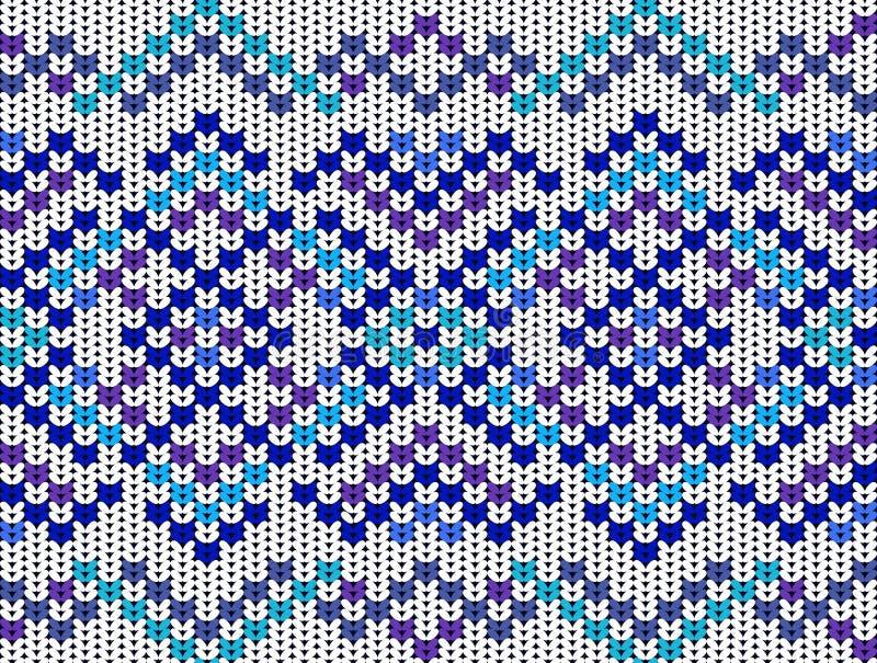 Gebreid naadloos patroon stock illustratie