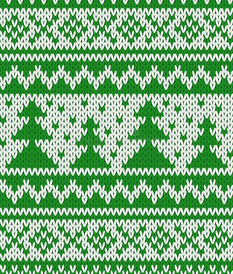Gebreid naadloos patroon vector illustratie