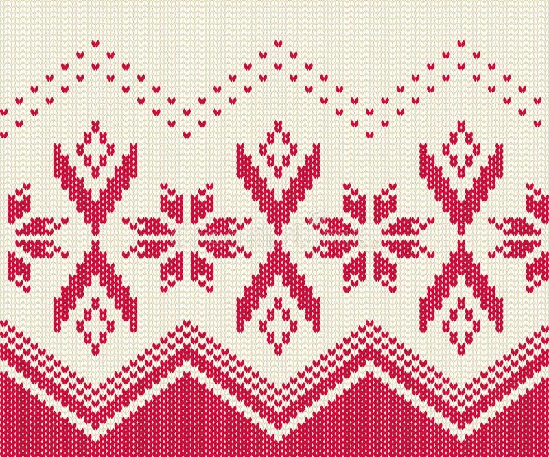Gebreid naadloos patroon voor sweater De winter achtergrondvector vector illustratie