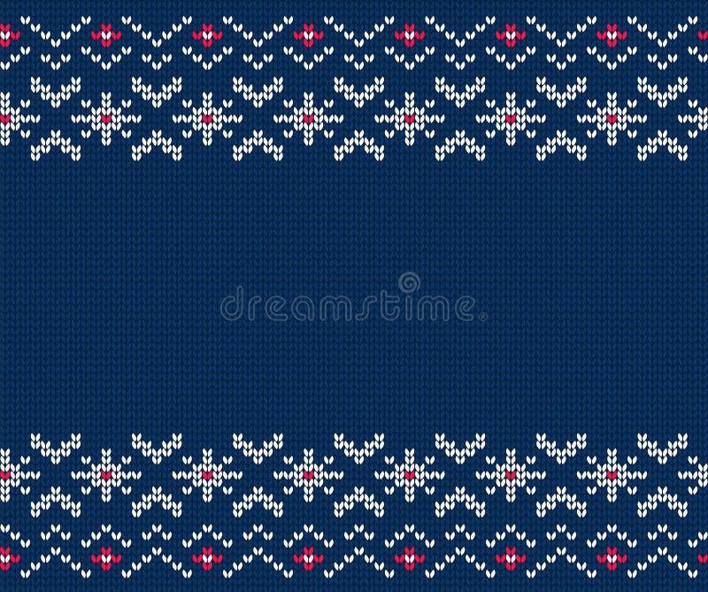 Gebreid naadloos patroon voor sweater Het kan voor prestaties van het ontwerpwerk noodzakelijk zijn vector illustratie