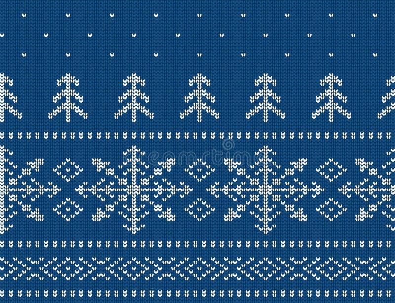 Gebreid naadloos patroon voor sweater Vakantie achtergrondvector vector illustratie