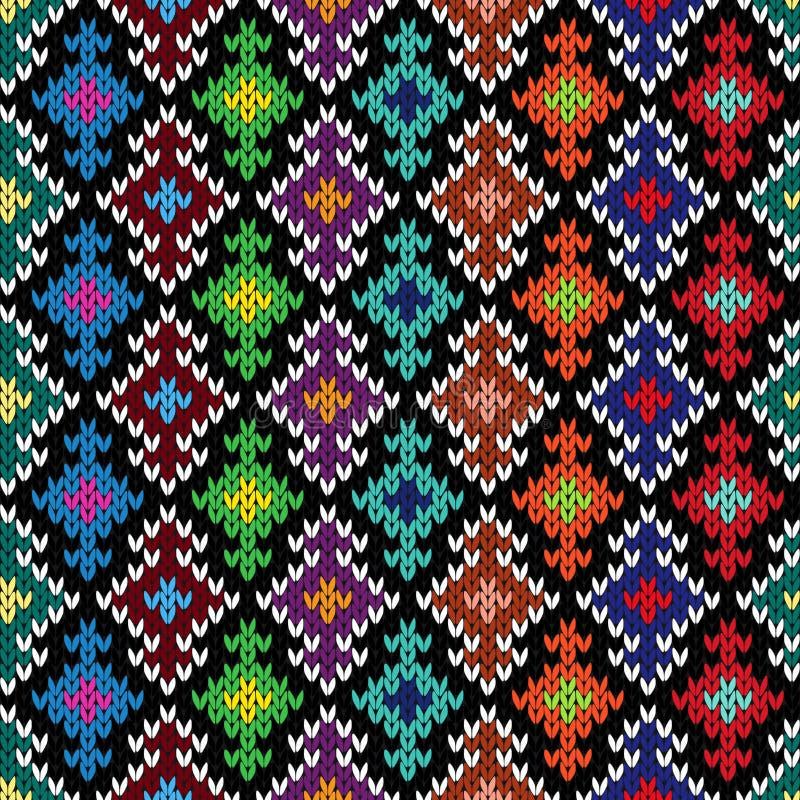 Gebreid overladen naadloos patroon royalty-vrije illustratie