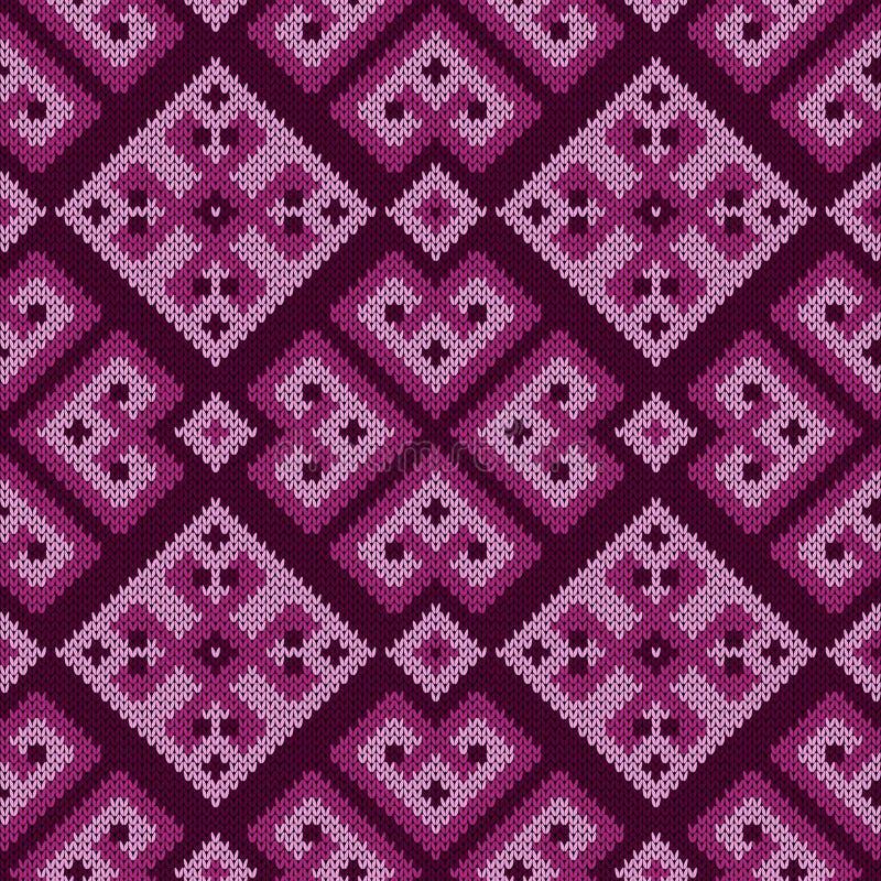 Gebreid overladen naadloos patroon vector illustratie