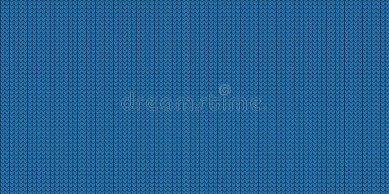 Gebreid Patroon - Jumper Design With Copy Space - Blauwe Vectorillustratie royalty-vrije illustratie