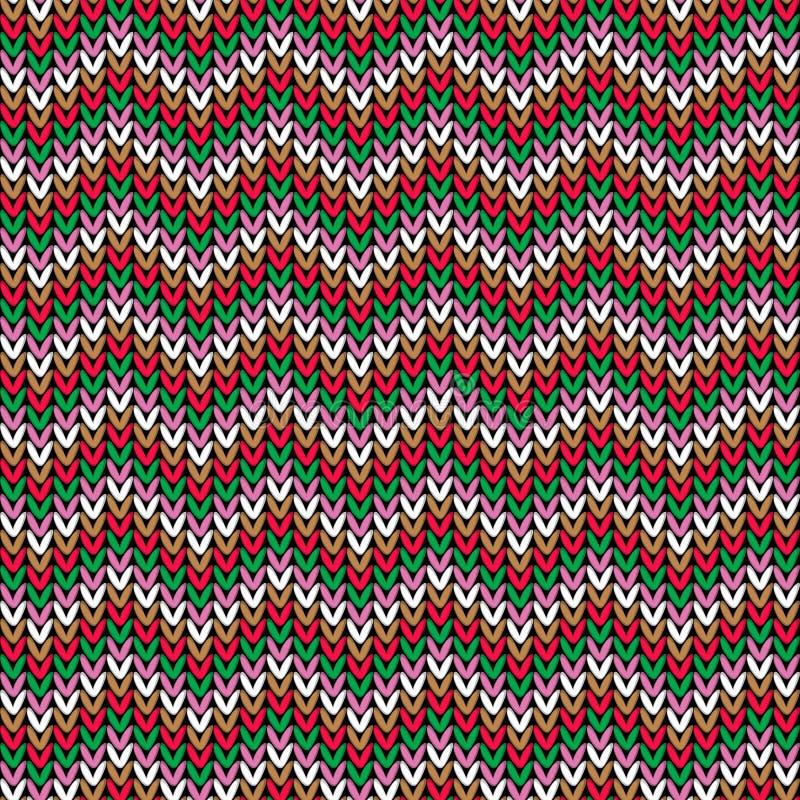 Gebreid patroon, Kerstmisthema royalty-vrije illustratie