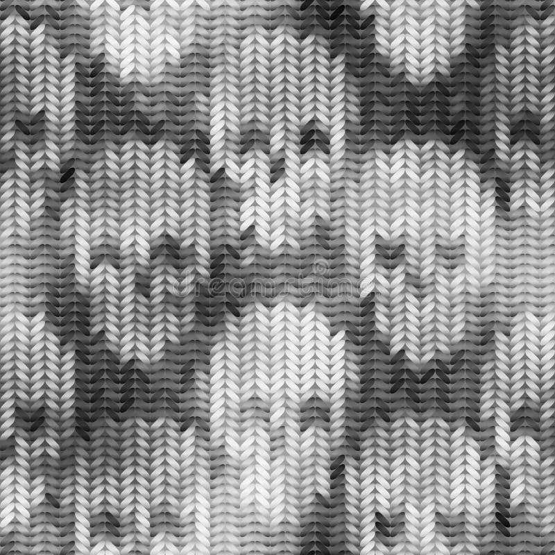 Gebreid patroon met het de schedels en melange effect stock illustratie