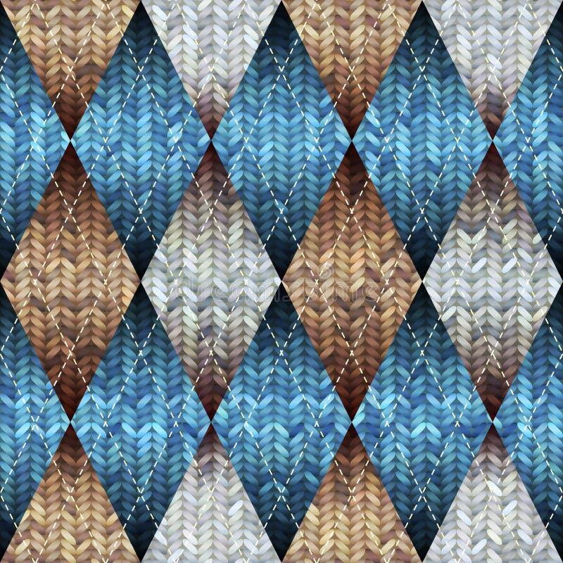 Gebreid patroon met het melange effect vector illustratie