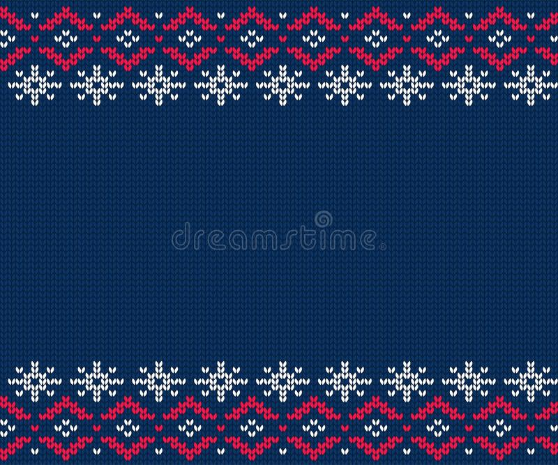 Gebreid patroon voor sweater De naadloze achtergrond van de winter royalty-vrije illustratie