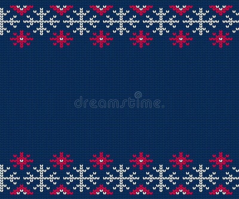 Gebreid patroon voor sweater De naadloze achtergrond van de winter vector illustratie