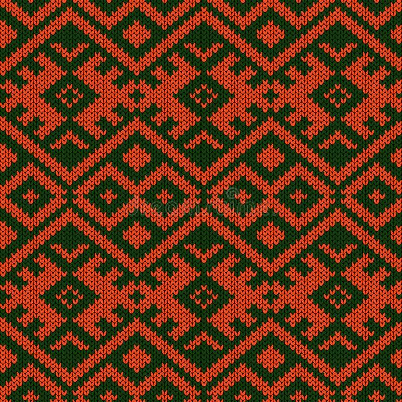 Gebreid sier naadloos patroon vector illustratie