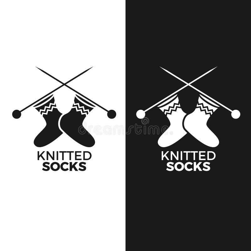 Gebreid sokkenembleem vector illustratie