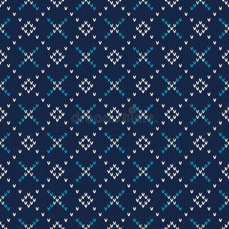 Gebreid Sweaterontwerp Naadloos patroon royalty-vrije illustratie