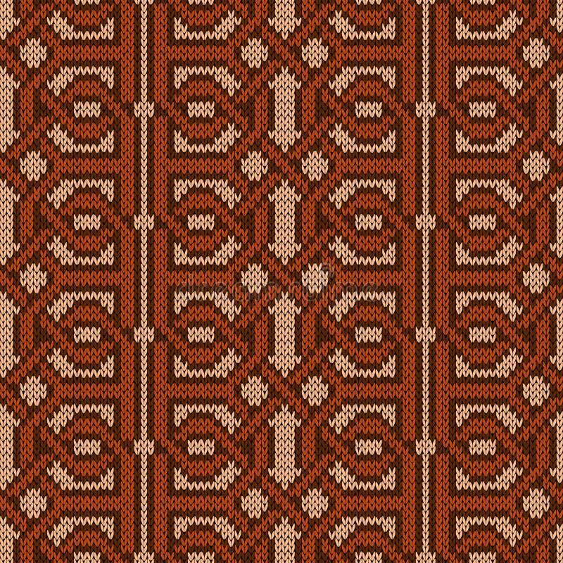 Gebreid verweven naadloos patroon vector illustratie