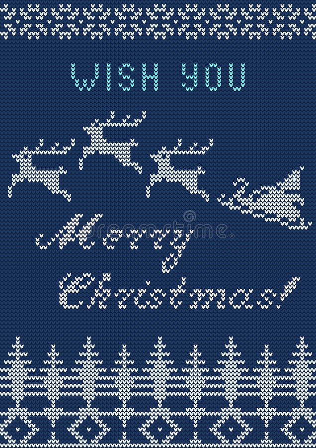 Gebreide Sweaterkaart stock illustratie