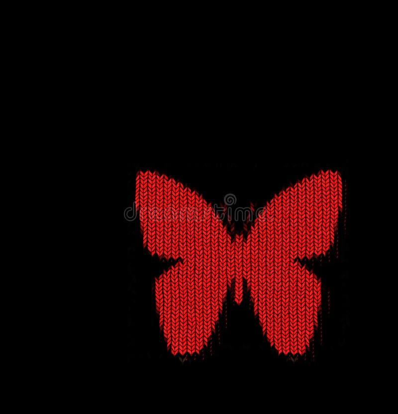 Gebreide vlinder royalty-vrije stock afbeeldingen