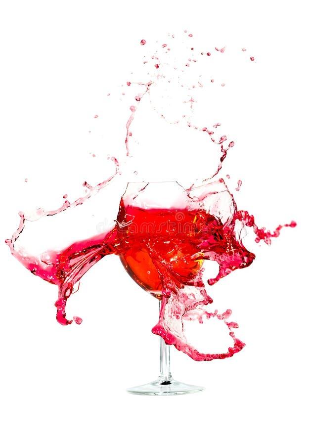 Gebrochen einem Glaswein stockbild