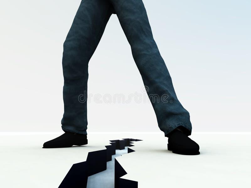 Gebrochene Füße 5 vektor abbildung