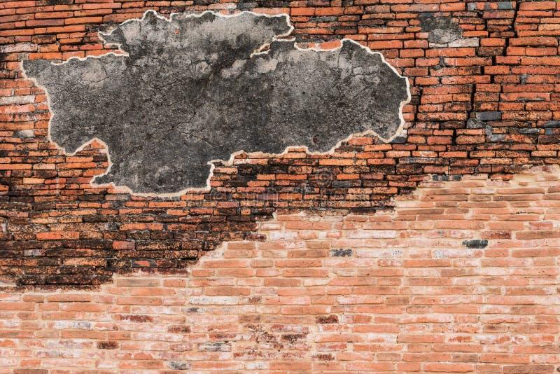 Download Gebrochene Konkrete Wand Weinlese Roten Backsteins Stockfoto - Bild von oberfläche, hintergrund: 47100092