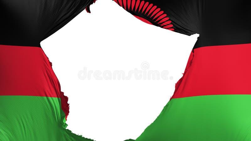 Gebrochene Malawi-Flagge lizenzfreie abbildung
