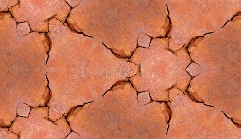 Gebrochene Maurerarbeit-Fliese-Muster-Hintergrund-Beschaffenheit lizenzfreie stockfotografie