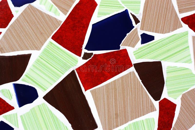 Gebrochene Mosaikfliesen lizenzfreie stockfotos