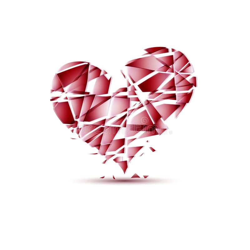 Gebrochene Stücke des Herzens, Vektor lizenzfreie abbildung