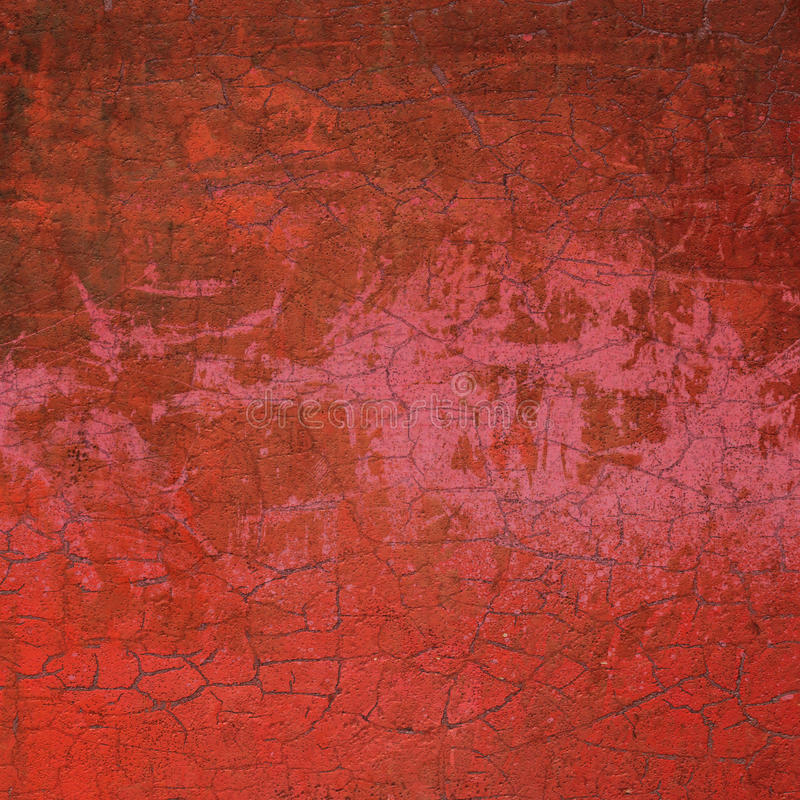 Gebrochene Wand des roten Zusammenfassungs-Schmutzes des Rosas 3d lizenzfreie abbildung