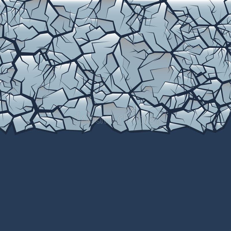 Gebrochener Eishintergrund vektor abbildung
