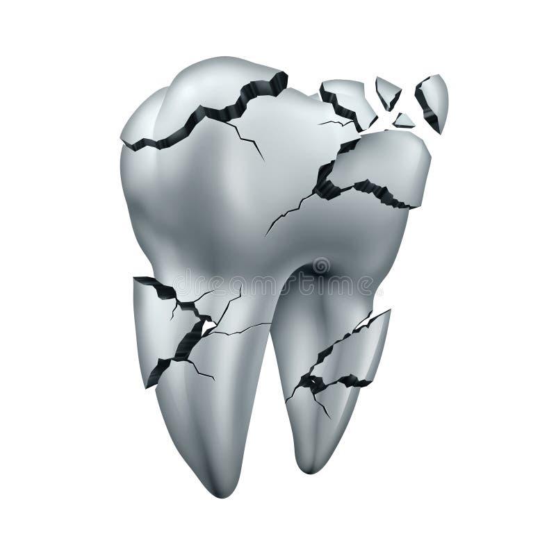 Gebrochener Zahn lizenzfreie abbildung